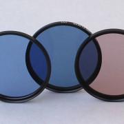 Blaufilter für die Farbfotografie mit Filmen.