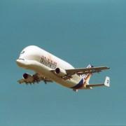 Modernes Transportflugzeug: Mit ihm werden Teile des Airbus zwischen den verschiedenen Produktionsstätten transportiert.
