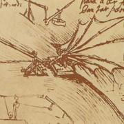 Zeichnung eines Schlagflügels von LEONARDO DA VINCI