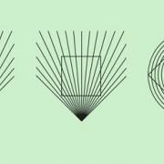 Regelmäßig geformte Figuren (Kreis, Quadrat) erscheinen nicht regelmäßig.