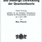 Vortrag von MAX PLANCK anlässlich der Verleihung des Nobelpreises