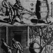 Otto von Guericke (1602-1686) versuchte, mithilfe einer Pumpe aus einem Fass die Luft herauszupumpen und so ein Vakuum zu erhalten.