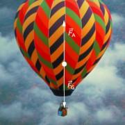 Kräfte bei einem Heißluftballon im Zustand des Schwebens