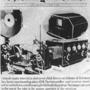Fernseh-Leuchtfleckabtaster (flying spot scanner), entwickelt von M. VON ARDENNE: Das Gerät ermöglichte im März 1931 erstmals die Übertragung von Filmen im Fersehen.
