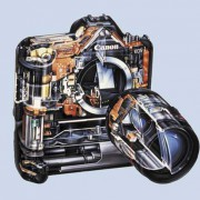 Die Objektive moderne Fotoapparate bestehen aus komplizierten Linsensystemen.