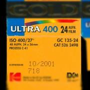 Kennzeichnung eines Farbfilmes in DIN und ISO