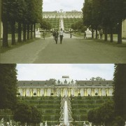 Aufnahmen von einem bestimmten Standpunkt aus mit unterschiedlichen Brennweiten des Objektivs