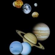 Die neun großen Planeten unseres Planetensystems