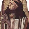 Der heilige THOMAS VON AQUIN in einer Darstellung von CARLO CRIVELLI (1476)