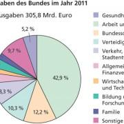 Gesamtausgaben des Bundes im Jahr 2011