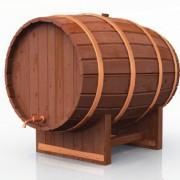 Früher lagerte man Bier in großen Holzfässern. Heute sind die Fässer aus Metall.