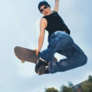 Energieumwandlungen auf einer Skateboard-Bahn