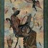 Kitharaspielerin auf einer Wandmalerei (griechisch)